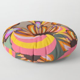 Abstract floral fantasy Floor Pillow