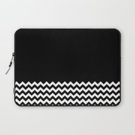 Black & Chevron (Black/White) Laptop Sleeve