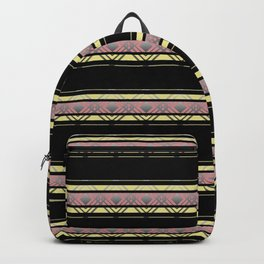 The horizontal decorative strips. Backpack