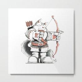 Archer Mainecoon Cat Metal Print