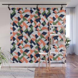 Geometric shapes retro Wall Mural