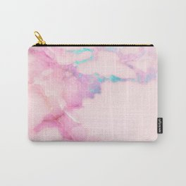 Pink Iridescent Vein Marble Carry-All Pouch