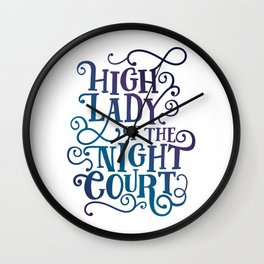 High Lady Of The Night Court - Gradient Wall Clock