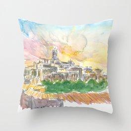 Impressive Siena Skyline From Glorious Past Throw Pillow