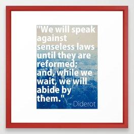 Senseless Laws Framed Art Print