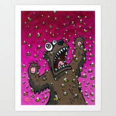 The Bear that was Allergic to Bees Art Print