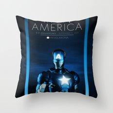 IRON AMERICA 9/11 Throw Pillow