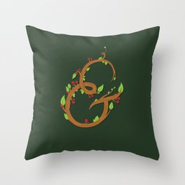 Natural Ampersand Throw Pillow