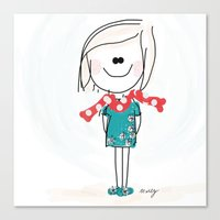 meme Canvas Prints featuring Meme by Indraart