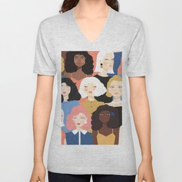 Girls 01 Unisex V-Neck