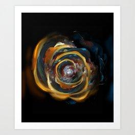 Trash Rose Art Print