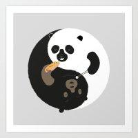 buddhism Art Prints featuring Yin-Yank by Wharton