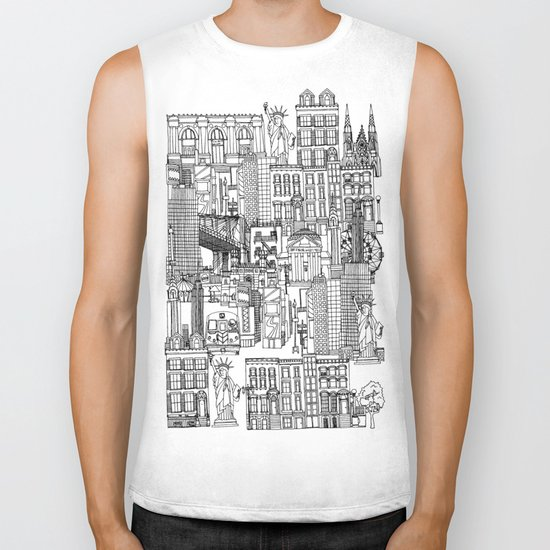 New York yellow Biker Tank
