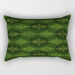 Ethnic Tribal Pattern on green Rectangular Pillow