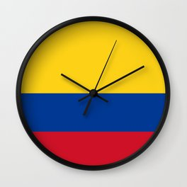 Flag of Colombia Yellow Blue Red Wall Clock