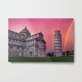 Pisa Rainbow Metal Print