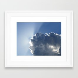 Sun Breaking Through Clouds Framed Art Print