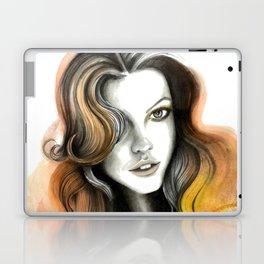 Yellow and Orange Flame Hair Laptop & iPad Skin