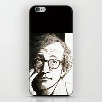 woody allen iPhone & iPod Skins featuring Woody Allen by Frances Roughton