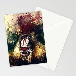 baboon monkey wsfn Stationery Cards
