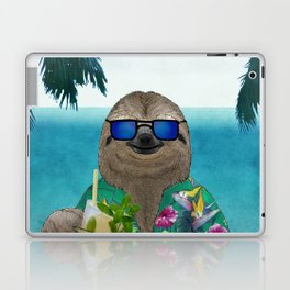 Sloth on summer holidays drinking a mojito Laptop & iPad Skin