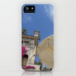 Castle fountain iPhone Case