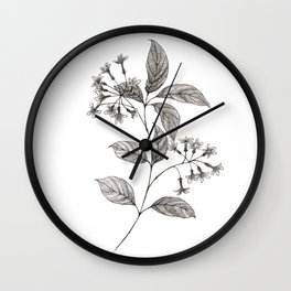 Lilac Ink Sketch Wall Clock