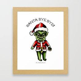 Baby Grinch Kewpie Framed Art Print