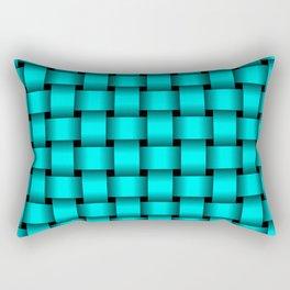 Cyan Weave Rectangular Pillow