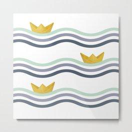 Origami sea Metal Print