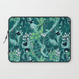 Reading girls among the plants with cats Laptop Sleeve