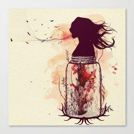 the scream jar Canvas Print
