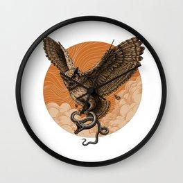 Owl and Snake Wall Clock