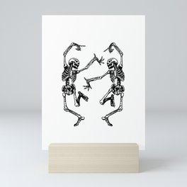 Duo Dancing Skeleton Mini Art Print