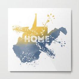 West Virginia State Map Watercolor Home Painting WV Pride Metal Print