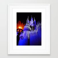 spires Framed Art Prints featuring Blue Spires by Dragons Laire