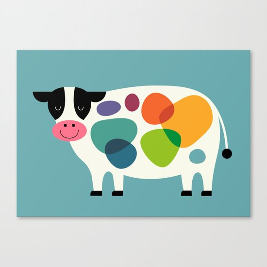 Awesome Cow Canvas Print
