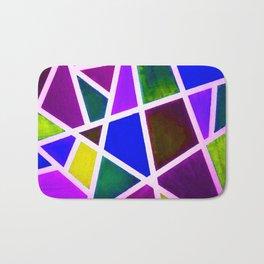 Broken glass pattern - Rainbow Geometric Shapes Bath Mat
