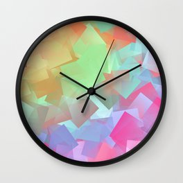Smoothie cubism Wall Clock