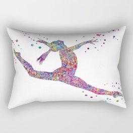 Gymnastics girl Rectangular Pillow