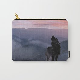 Lone Wolf at Sunset Ridge Carry-All Pouch