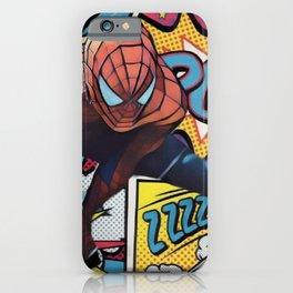 Spider man Comic Portrait Legendary Memories Best Movie Ever iPhone Case
