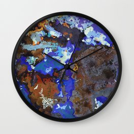 Blue Boulder Opal  Wall Clock
