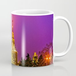 Moscow State University At Misty Winter Night Coffee Mug