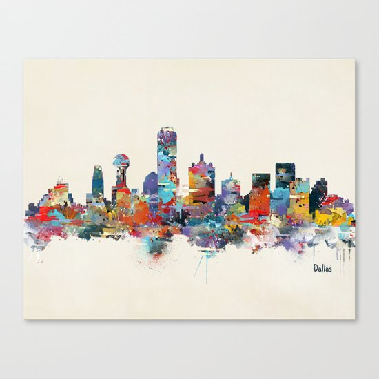 dallas texas skyline Canvas Print