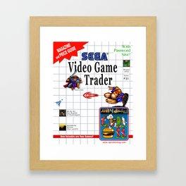 Video Game Trader #31 Cover Design  Framed Art Print