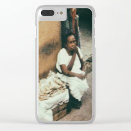 Mexican Street Vendor Clear iPhone Case