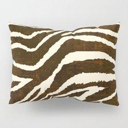 Animal Print Zebra in Winter Brown and Beige Pillow Sham