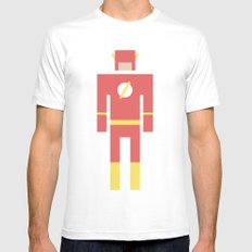 Retro Flash Mens Fitted Tee White MEDIUM