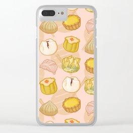 Dimsum everywhere! [peach] Clear iPhone Case